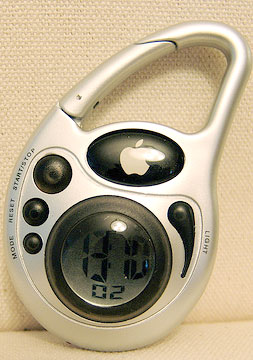 apple-carabiner stopwatch