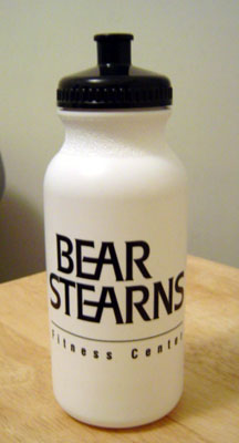 bear stearns bike bottle