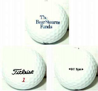 bear stearns golf ball