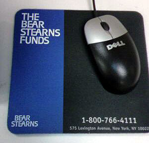 bear stearns mouse pad