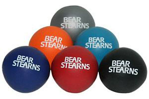 bear stearns round stress ball