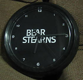 bear stearns wall clock
