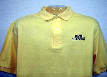 bear stearns yellow polo