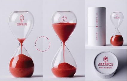 blood-donation hourglass