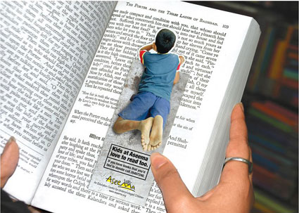 childrens-reading bookmark