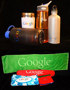 google-water-bottles towels