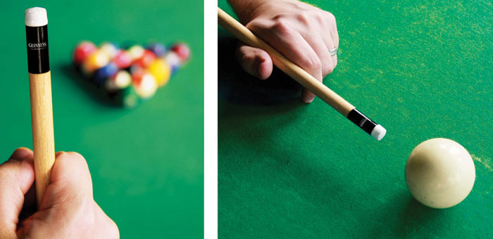 guinness-pool cue