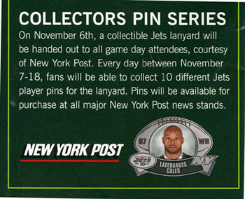 jets-collector pins