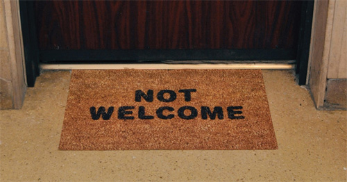 not-welcome-doormat israel