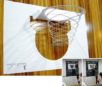 paper-basketball hoop