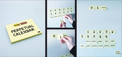 perpetual-post-it calendar