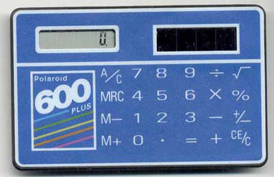 polaroid calculator