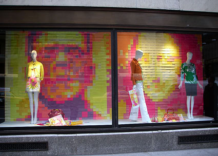post-it-window display
