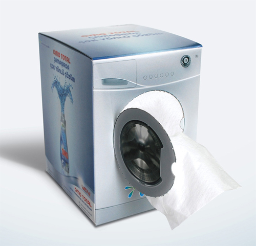 promotional washing machine tissue box