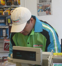 simpsons cashier