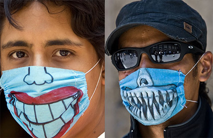 swine-flu masks