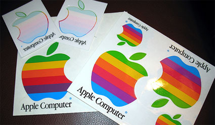 vintage-apple stickers
