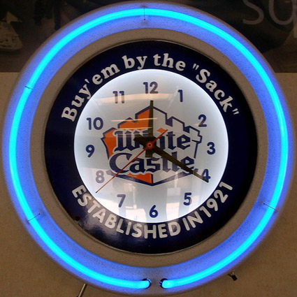 white castle logo wall clock