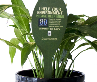 wwf-plant-spike-earth-hour promotion