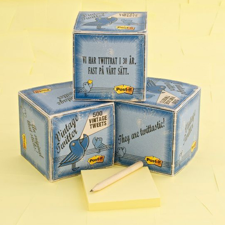 vintage tweets - custom sticky notes