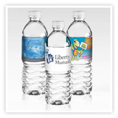 Bottled Water with Custom Labels