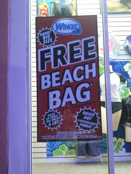 logo beach bag