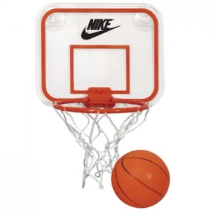 promotional basketball and hoop set