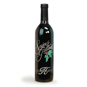 etched custom wine bottle