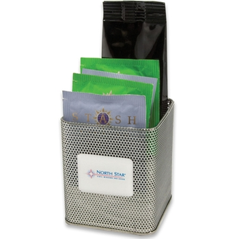 promotional pen holder with coffee and tea