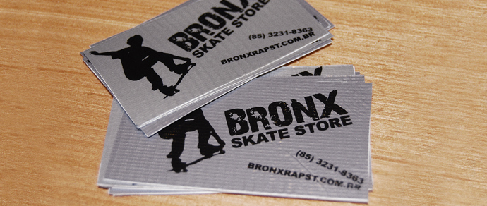 Custom business card sticker