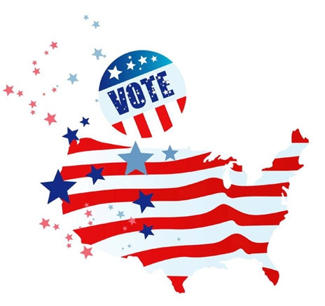 vote for red or blue promotional products
