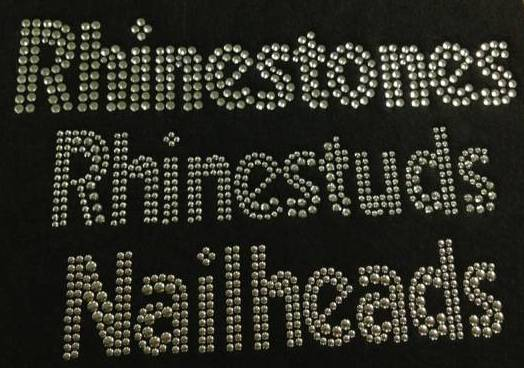 Rhinestones and rhinestuds differences