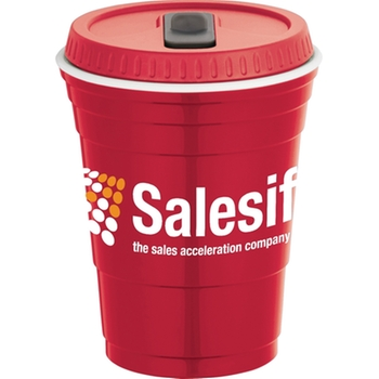 Red Solo-style promotional cup