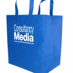 reusable grocery tote blue