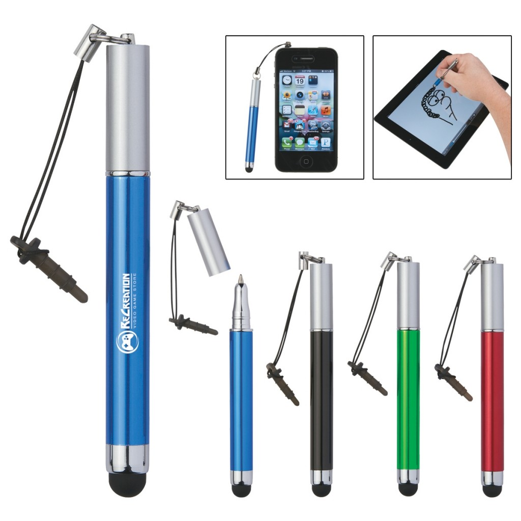 stylus companion with promotional ballpoint pen