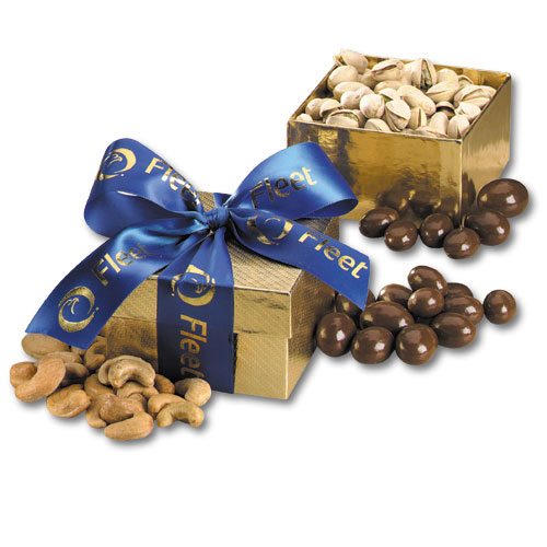 custom snack box with ribbon