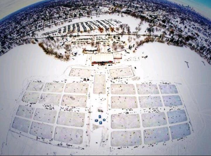 More than 500 games were played on 25 rinks at the U.S. Pond Hockey Championship