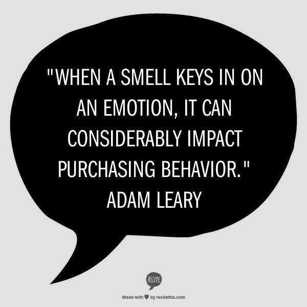 Smell impacts purchasing behavior