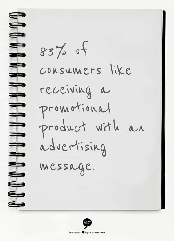 Promotional products work -- stat 1