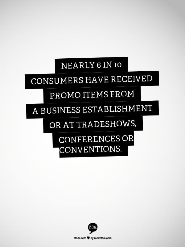 Promotional products work -- stat 10