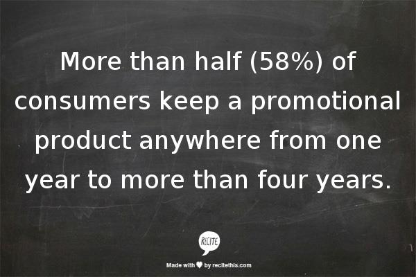Promotional products work -- stat 3