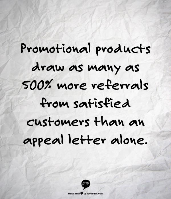 Promotional products work -- stat 6