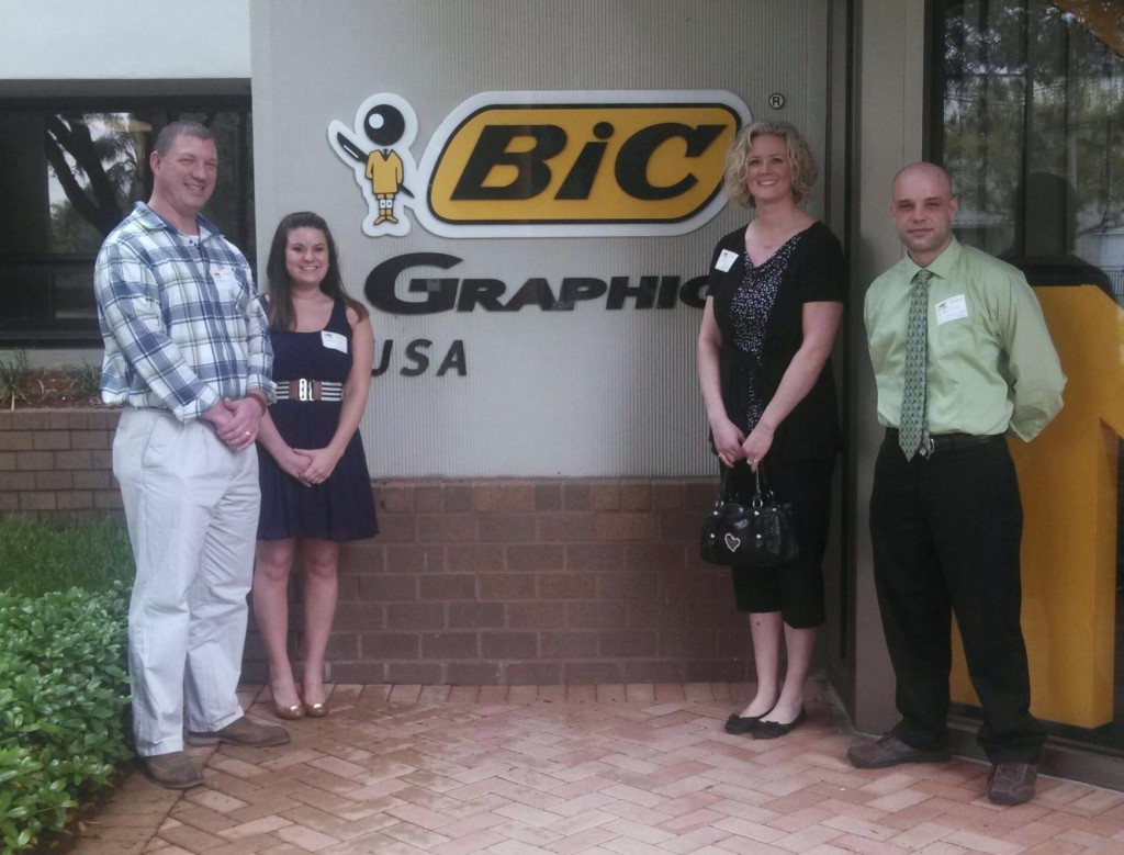 Members of the ePromos team visiting a supplier: BIC Graphic