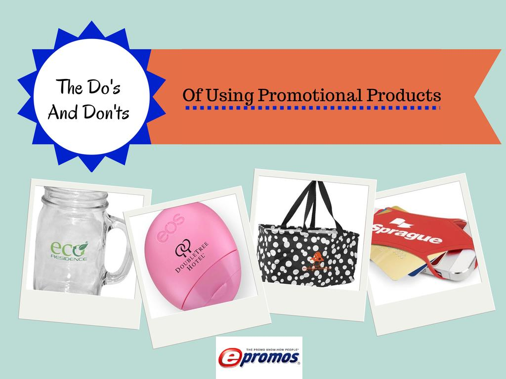using promotional products