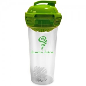 Shaker Bottle with Citrus Juicer Compartment