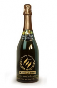 Etched Custom Champagne Bottle - Monterey Cristal