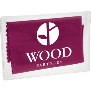Microfiber Custom Cleaning Cloth w/ Pouch SKU:10008241