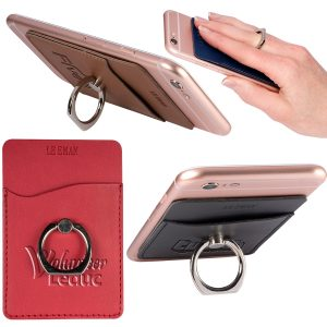 LEEMAN NYC Custom Cell Phone Wallet w/ Ring Phone StandSKU:10008135