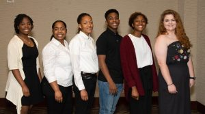 Students without Mothers program hosts a luncheon for 6 of their students heading to college.
