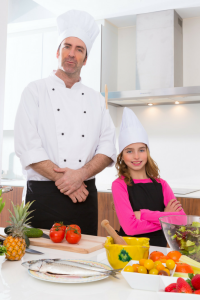 cooking demo with kids